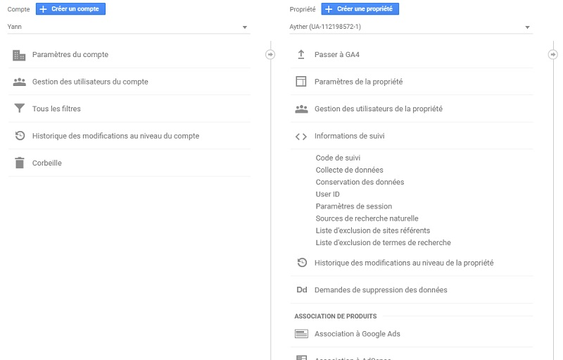 code de suivi google analytics 2020